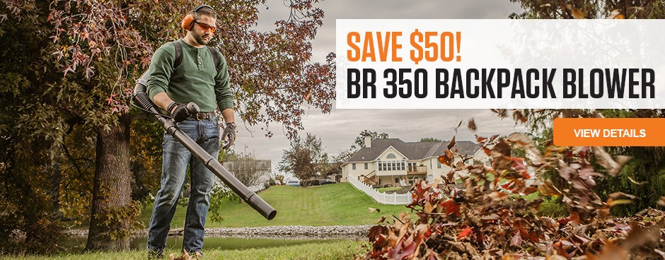 Save Now on the BR 350 Backpack Blower